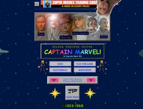 復仇者聯盟90年代設計官網好復古!驚奇隊長Captain Marvel
